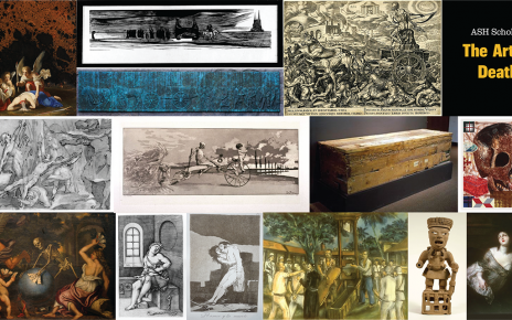 Collage of art pieces from the MU Museum of Art & Archeology's