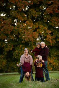 Brown family portrait